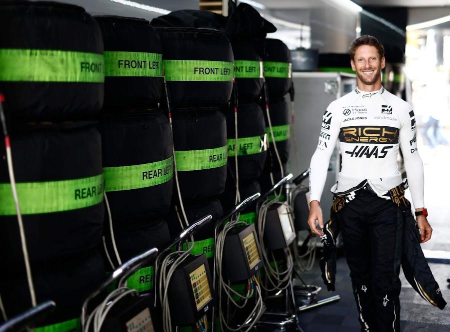 Un Romain Grosjean heureux